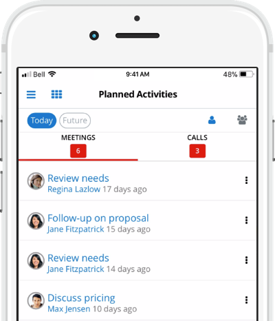 SugarCRM Mobile Activities